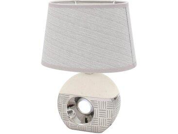 Dekohelden24 Tischleuchte »Edle Designer Tischlampe / Nachttischlampe, rund«