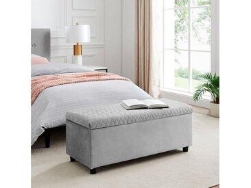 Leonique Bettbank »Fabrice«, Sitzfläche gesteppt, mit Strauraum, grau, grau