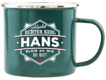 HTI-Living Becher »Echter Kerl Emaille Becher Hans«