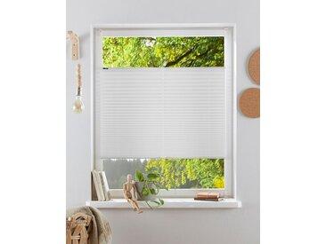 my home Plissee »Laholm«, Lichtschutz, ohne Bohren, verspannt, im Fixmaß, weiß, weiß