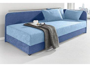 Maintal Polsterliege, blau, Liegehöhe 38 cm, Federkern-Festpolster, blau