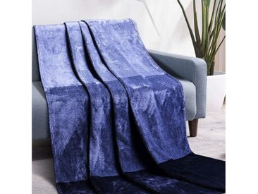 Luxear Wohndecke, Fleecedecke Antistatikfunktion Extra Weich & Warm Doppelseitig, blau, Blau