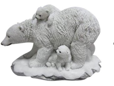 JOKA international Gartenfigur »Solarleuchte Eisbärfamilie Eisbär Dekoration Garten Beleuchtung Tiere 14827«, Solarleuchte Eisbärfamilie