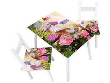 HTI-Line Kindersitzgruppe »Kindertischgruppe Blumenfee«, (1 Tisch und 2 Stühle, 3-tlg), Kindertischgruppe