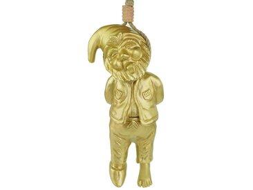 Kremers Schatzkiste Gartenzwerg »Gartenzwerg erhängt goldfarben Made in Germany Figur gold Zwerg Gartenfigur«