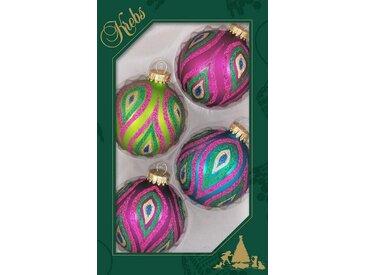 Krebs Glas Lauscha Weihnachtsbaumkugel »Splash« (4 Stück)