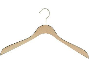 MAWA Kleiderbügel »Comfort Bi-Colour 44«, (Set, 10-tlg), natur, natur-schwarz-silberfarben