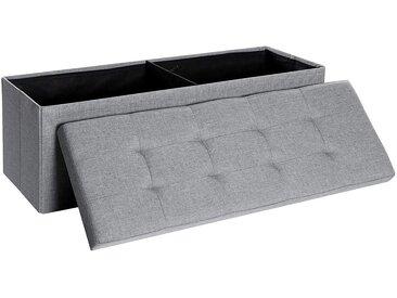 SONGMICS Sitzbank »LSF77G LSF77K LSF77BE LSF77IN«, Sitztruhe, Aufbewahrungsbox, faltbar, hellgrau, grau, hellgrau