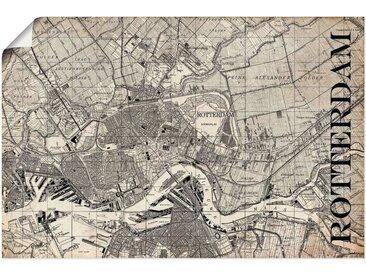 Artland Wandbild »Rotterdam Karte Straßen Karte Grunge«, Niederlande (1 Stück), Poster