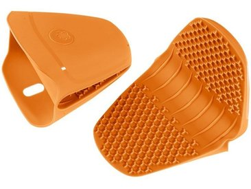 Kochblume Topfhandschuhe »Thermo-Fingerschutz«, (2-tlg), Hitzebeständig bis 230°, orange, orange