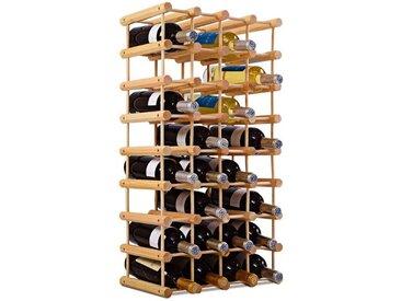 COSTWAY Weinregal »Flaschenregal Weinschrank Weinflaschenhalter«, 40 Flaschen, natur, Kiefernholz, natur