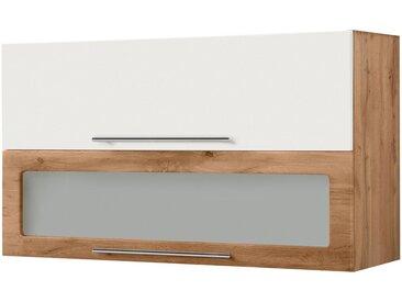 HELD MÖBEL Klapphängeschrank »Wien« Breite 110 cm, weiß, weiß matt/wotaneiche