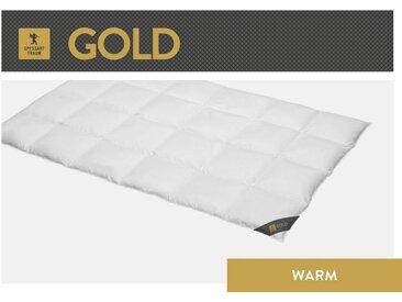 SPESSARTTRAUM Gänsedaunenbettdecke, »Gold«, warm, Füllung: 100% Gänsedaunen, Bezug: 100% Baumwolle, (1-tlg)