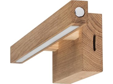 SPOT Light Wandleuchte »SMAL«, mit integriertem 24V-LED-Modul, mit Touch Dimmer, aus edlem Eichenholz, Naturprodukt FSC®-zertifiziert, Made in Europe
