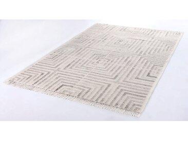 TOM TAILOR Teppich »Square Kelim«, rechteckig, Höhe 5 mm, Bohostyle, handgewebt, mit Fransen