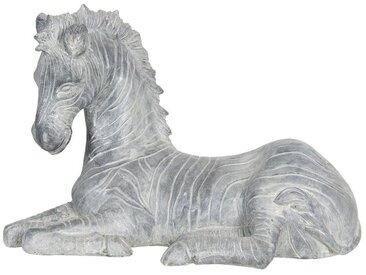 Clayre & Eef Tierfigur » Dekofigur Zebra grau Polyresin 40 x«