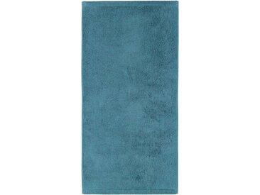 Cawö Badetuch »Lifestyle Uni« (1-St), aus 100% Baumwolle, blau, petrol