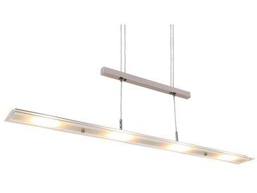 Briloner Leuchten LED Pendelleuchte »Kaya«, Pendellampe höhenverstellbar, matt-nickel