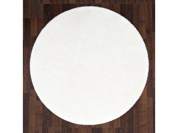 Andiamo Fellteppich »Lamm Fellimitat«, rund, Höhe 20 mm, Kunstfell, besonders weich durch Microfaser, weiß, weiß