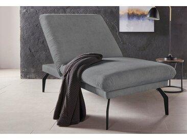 Places of Style Hockerbank »Salerno«, durch Rückenverstellung vollwertiges Sitzmöbel, grau, anthrazit