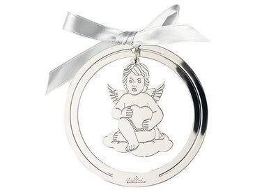 Rosenthal Christbaumschmuck »Silver Collection Angels Silver Engel Anhänger rund« (1-tlg), Engel mit Herz