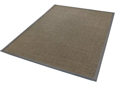 Dekowe Sisalteppich »Mara S2 mit Bordüre, Wunschmaß«, rechteckig, Höhe 5 mm, Flachgewebe, Obermaterial: 100% Sisal, Wohnzimmer, grau, smoke-meliert