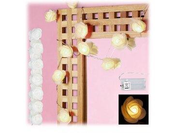 relaxdays Lichterkette »2x Rosen Lichterkette weiß«