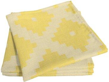 Adam Stoffserviette »Maroccan Shiraz Light«, nachhaltig, GOTS zertifiziert, gelb, gelb