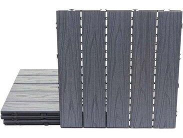 MCW WPC-Fliesen »-E21«, Set, 4 St., 4x je 50x50cm = 1qm, Keine Vor- und Nachbehandlungen notwendig, Hitze- und kälteisolierend, 4 St.