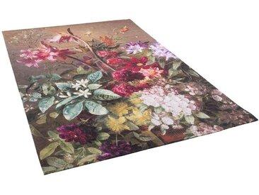 Pergamon Designteppich »Luxus Designerteppich Flores Blumen Beige«, Rechteckig, Höhe 5 mm