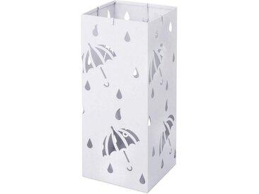 Woltu Schirmständer »Rain« (1 Stück), Regenschirmständer mit Wasserauffangschale, weiß, weiß