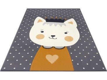 HANSE Home Kinderteppich »Kitty Bonny«, rechteckig, Höhe 9 mm, grau, grau-gelb-senf