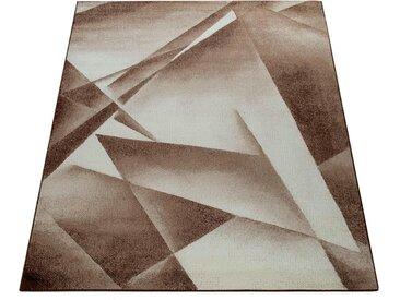 Paco Home Teppich »ECE 911«, rechteckig, Höhe 14 mm, Kurzflor, Geometrisches Design, braun, braun
