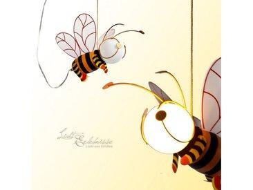 Licht-Erlebnisse Pendelleuchte »KINDER Kinderlampe leuchtende Biene dekorative Leuchte Lampe«