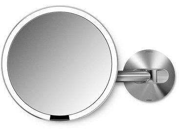 simplehuman Spiegel »20cm Sensorspiegel mit Wandaufbau wiederaufladbar«, silberfarben, silberfarben