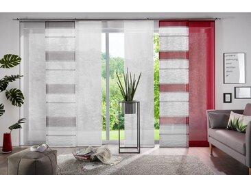 my home Schiebegardine »Maria«, Klettschiene (2 Stück), Fertiggardine, Inkl. Befestigungszubehör, transparent, rot, rot