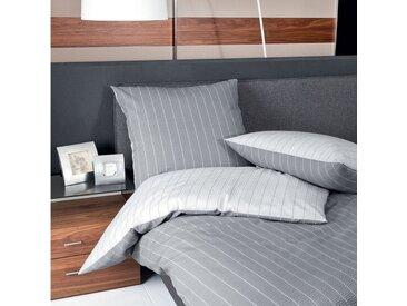 TRAUMSCHLAF Wendebettwäsche »Argentina Silver«, bügelfreie Seersucker Qualität, 1 St. x 240 cm x 220 cm, 3 tlg.
