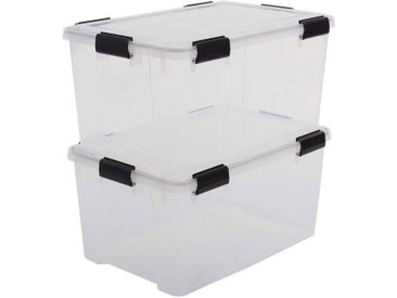 IRIS OHYAMA Aufbewahrungsbox »Water Proof ATL« (Set, 2 Stück)