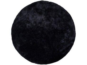 ebuy24 Teppich »Flagstaf Teppich rund 120 cm schwarz.«, Höhe 1 mm