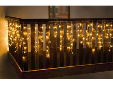 "HomeLiving LED Dekolicht »LED-Lichtervorhang ""White"" Kerze Schein Leuchte Lampe brennen«"
