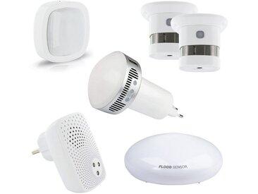 Schwaiger Smart Home Starter Set HOME4YOU »Sicherheit, Google Assistant / Amazon Alexa«, weiß, Weiß