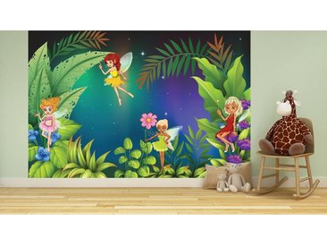 Bilderdepot24 Deco-Panel, selbstklebende Fototapete - Kinderbild - Feenwiese, bunt, Farbig
