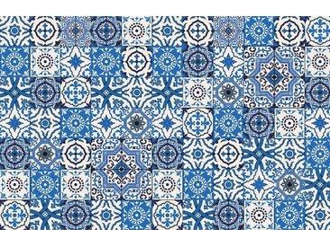 Artland Küchenrückwände »PGMart: Orientalische Fliesen«, blau, 100x65 cm, Blau