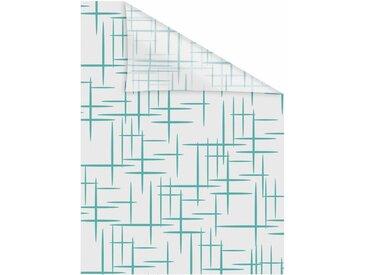 LICHTBLICK Fensterfolie »Stars Petrol«, blickdicht, strukturiert, selbstklebend, Sichtschutz