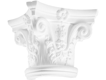 Homestar HOMESTAR Dekorpaneele »Kapitell D2/H«, Länge 305 mm, geschäumt aus EPS, weiß, weiß