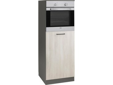 wiho Küchen Backofenumbauschrank »Esbo« 60 cm breit, natur, Wilton Oak/Anthrazit