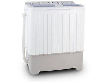 ONECONCEPT Mini Camping Waschmaschine 6,8 kg Wäscheschleuder 5,2 kg »Ecowash XXL«, weiß, Weiß