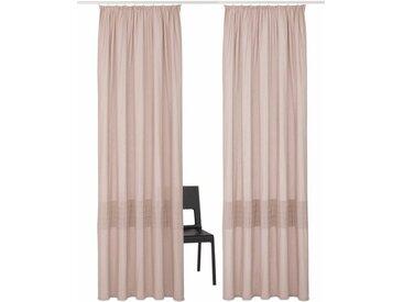 my home Vorhang »Tivoli«, Kräuselband (2 Stück), Nachhaltig, braun, taupe