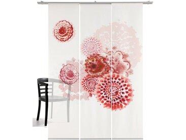 emotion textiles Schiebegardine »Batikblume«, Klettband (3 Stück), HxB: 260x60, mit Befestigungszubehör, rot, rot