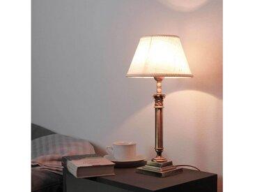 Licht-Erlebnisse Tischleuchte »ABAT-JOUR 166 Nachttischleuchte Messing helles Bronze Jugendstil Lampe«